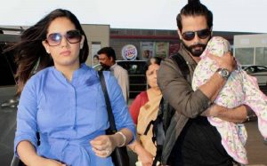 Shahid Kapoor with his wife Meera Kapoor and daughter Misha.
