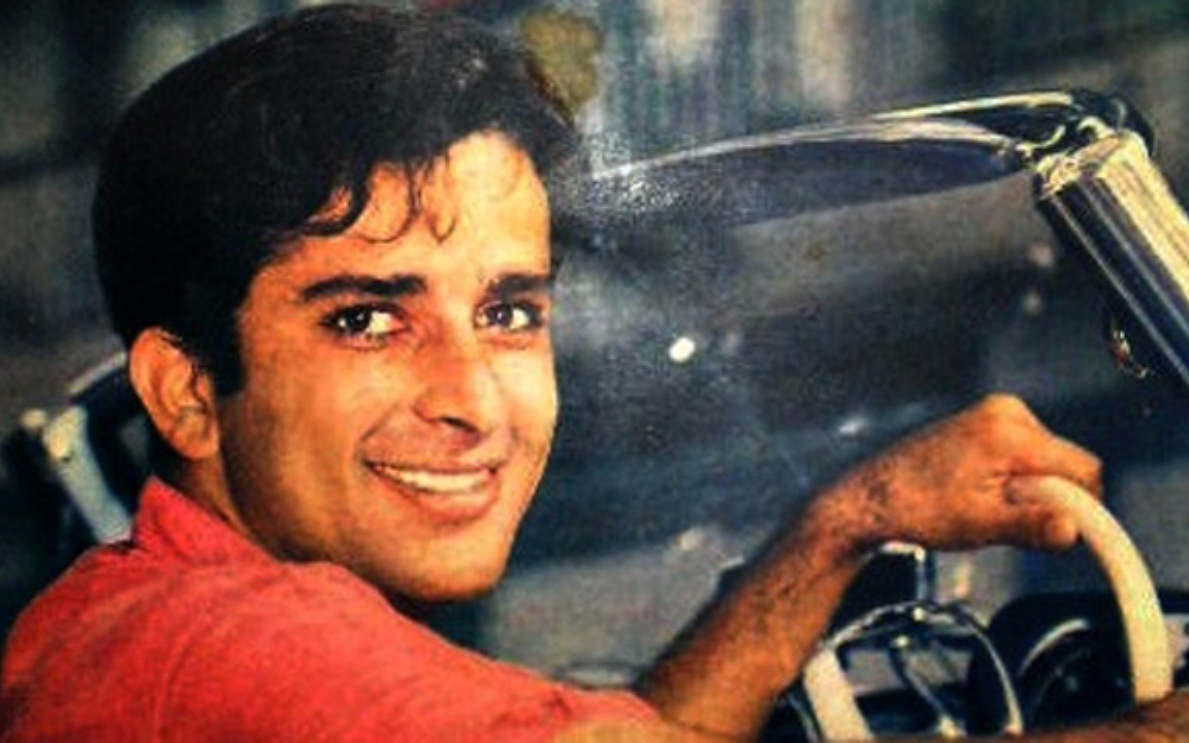 Shashi Kapoor in his car