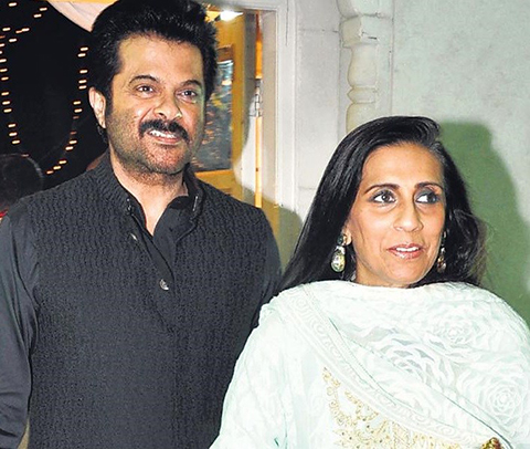 Anil Kapoor and Wife