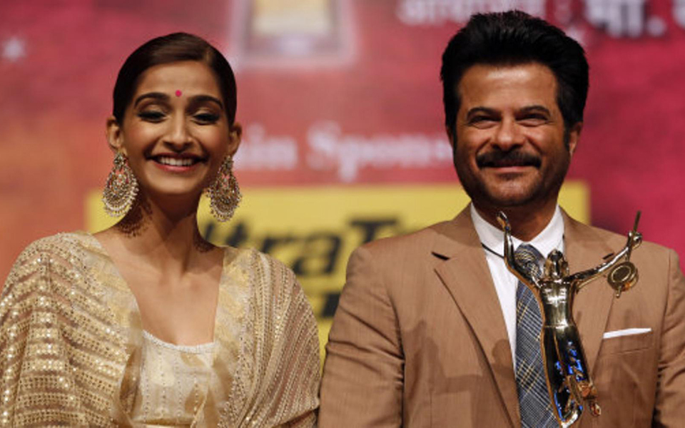 Anil and daughter Sonam Kapoor